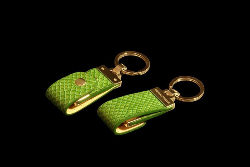 lizard Exotic leather keyfob